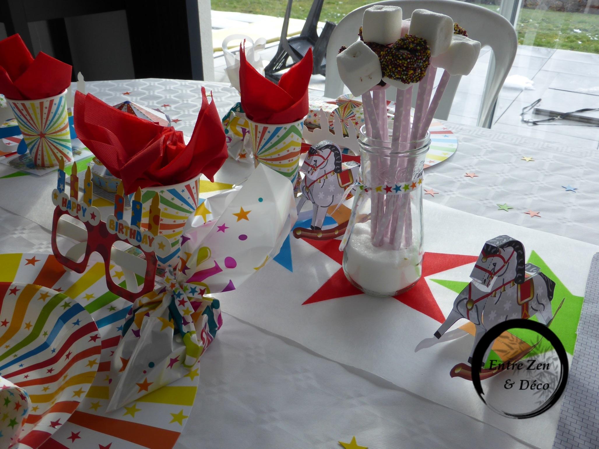 Table Thème Fête Foraine