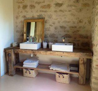 Mes 10 conseils pour concevoir une salle de bain rustique entre zen et d co - Concevoir une salle de bain ...